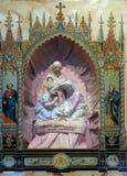Nascita domestica dell'altare di Gesù Immagine Stock