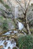 Nascita Rio Riopar del mondo delle cascate fotografie stock