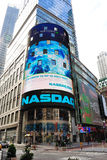 NASDAQ. The electronic NASDAQ billboard in Times Square. Founded February 8, 1971, NASDAQ is now the largest electronic screen-based equity securities trading