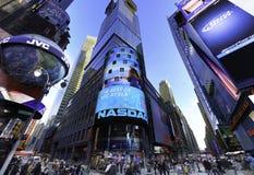 Nasdaq-aktiemarknaden royaltyfria bilder