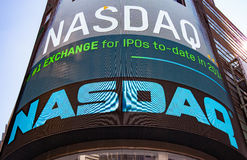NASDAQ billboard at Time Square Stock Images