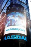Nasdaq corner, Times Square, New York Stock Image