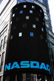 NASDAQ Headquarters. The electronic NASDAQ billboard in Times Square. Founded February 8, 1971, NASDAQ is now the largest electronic screen-based equity Royalty Free Stock Photos