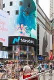 Nasdaq headqwaters na times square, Miasto Nowy Jork zdjęcie stock