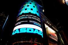 NASDAQ quadra a volte Fotografia Stock