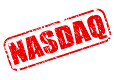 NASDAQ red stamp text. On white Royalty Free Illustration