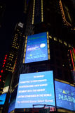Nasdaq sign at Times Square, Manhattan Stock Photography