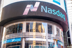 Nasdaq Stock Exchange New York City Stock Photo
