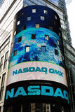 NASDAQ Stock Market. The electronic NASDAQ billboard in Times Square. Founded February 8, 1971, NASDAQ is now the largest electronic screen-based equity