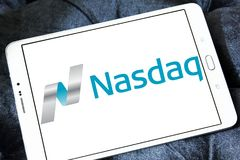 Nasdaq Stock Market logo Royalty Free Stock Images