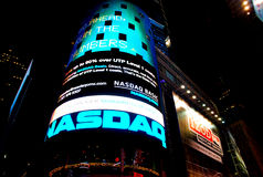 NASDAQ at Times Square Stock Photography