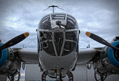 Nase Mitchell B-25 Stockbild