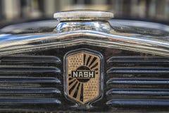 Nash Ambassador Sedan 1931 (détail sur le gril) Images stock