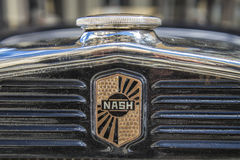 1931 Nash Ambassador Sedan (detail op de grill) Stock Afbeeldingen