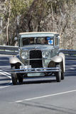 1929 Nash Coupe. Adelaide, Australia - September 25, 2016: Vintage 1929 Nash Coupe driving on country roads near the town of Birdwood, South Australia Stock Photos