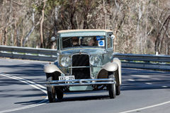 1929 Nash Coupe. Adelaide, Australia - September 25, 2016: Vintage 1929 Nash Coupe driving on country roads near the town of Birdwood, South Australia Royalty Free Stock Photo