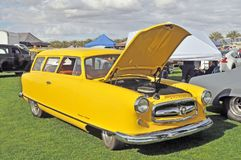 Nash Custom. Nash was a builder of `bread and butter` cars for families. This car started out life as a station wagon but it has been customized with a lowered Royalty Free Stock Photography