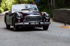 NASH HEALEY SPORTS 3850 cc 1950. PESARO, ITALY - MAY 15: old racing car in rally Mille Miglia 2015 the famous italian historical race 1927-1957 on May 15 2015 royalty free stock images