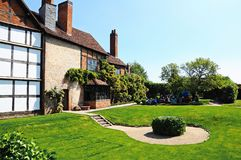 Nash House garden, Stratford-upon-Avon. Stock Photography