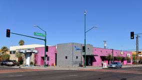 The Nash in Phoenix. Phoenix, AZ, USA - February 21, 2016: The Nash a live Jazz club on Roosevelt Row arts district that opened in 2013 and is named after Lewis Stock Image