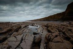 Nash Point Cliffs Foto de Stock