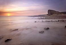 Nash Point - south Wales stock photo