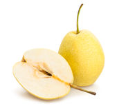 Nashi pear Arkivfoton