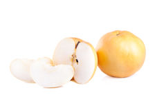 Nashi pear fruit over a white background Stock Photography