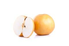 Nashi pear fruit over a white background Stock Photos