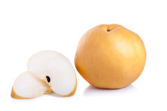 Nashi pear fruit over a white background Royalty Free Stock Photography