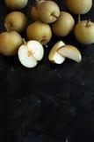 Nashi Pears on wood Royalty Free Stock Photos