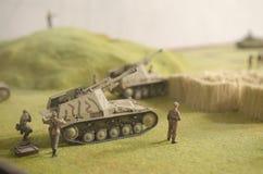 Nashorn,在Prokhorovka附近的德国反坦克装甲车 库存照片