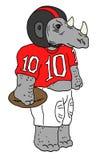Nashorn des amerikanischen Fußballs lizenzfreies stockfoto