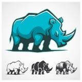 Nashorn-Symbol Stockfoto