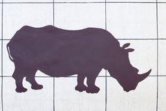 Nashornschattenbild lizenzfreie stockbilder