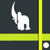 Nashornzeichen Stockbild