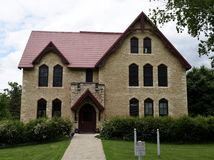 Nashotah House. This is a Spring picture of the limerick Nashotah House Theological Seminary located in Delafield, Wisconsin in Waukesha County.  This picture Stock Photos