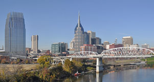 Nashville. A view of the skyline of Nashville, Tennessee Royalty Free Stock Images