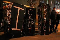 Nashville - ataúdes de la protesta de la brutalidad policial foto de archivo libre de regalías