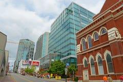 Nashville centrum, Nashville, TN, USA Arkivfoton