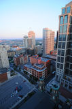Nashville City. A view of the Nashville city from the floor of a high building in the morning royalty free stock images