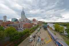 Nashville city skyline, Tennessee, USA stock photography