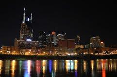 Nashville céntrica en la noche Foto de archivo libre de regalías