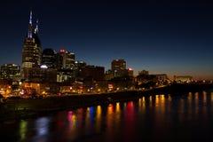 Nashville an der Dämmerung Lizenzfreie Stockfotos