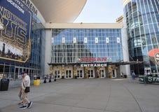 Nashville Entrance at The Bridgestone Arena, Nashville Tennessee. Nashville Entrance at the Bridgestone Arena originally Nashville Arena and formerly Gaylord stock photography