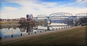 Nashville-Fluss-Brücke Stockbild