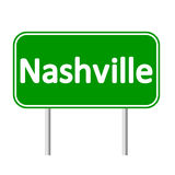 Nashville green road sign Stock Photography
