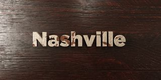 Nashville - grungy wooden headline on Maple  - 3D rendered royalty free stock image Stock Photo