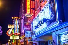 Nashville Honkey Tonk stänger Fotografering för Bildbyråer
