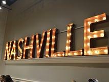 Nashville leuchten Zeichen lizenzfreies stockbild